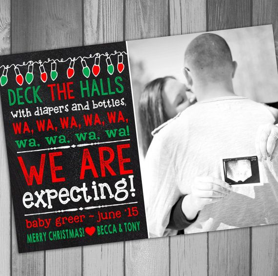 17 Best ideas about Christmas Pregnancy Announcements – Christmas Baby Pregnancy Announcement