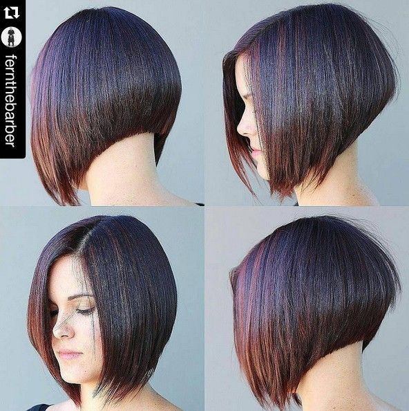 Clean, precision edged inverted bob. Looks like a Vidal Sassoon cut...very classic and polished.