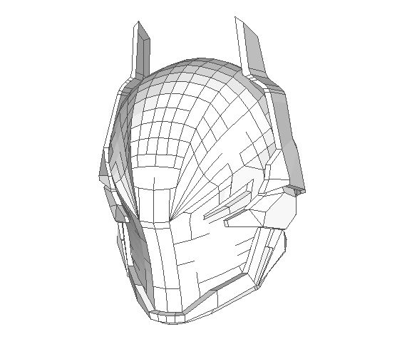 Batman: Arkham Knight Helmet Ver.3 Free Papercraft Download - http://www.papercraftsquare.com/batman-arkham-knight-helmet-ver-3-free-papercraft-download.html