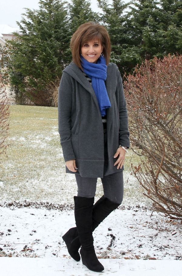 Cozy layers for winter fashion.