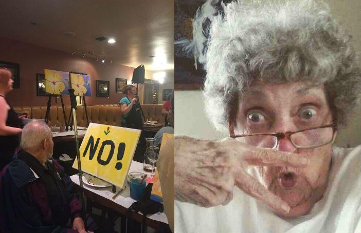 Ouderen altijd maar serieus of chagrijnig? Mooi niet! Deze ouderen in ieder geval zéker niet. De 11 foto's hieronder zijn namelijk het ultieme bewijs dat er genoeg ouderen zijn met een jonge geest en ontzettend veel gevoel voor humor. 1. Deze oma die een badkamer-selfie uitprintte en naar haar kleinkinderen stuurde Reddit 2.Opa wilde even …
