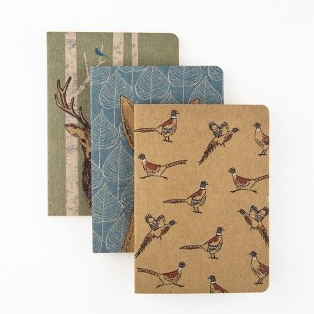 Woodland Trust Animals Set of 3 Pocket Notebooks - £6.99