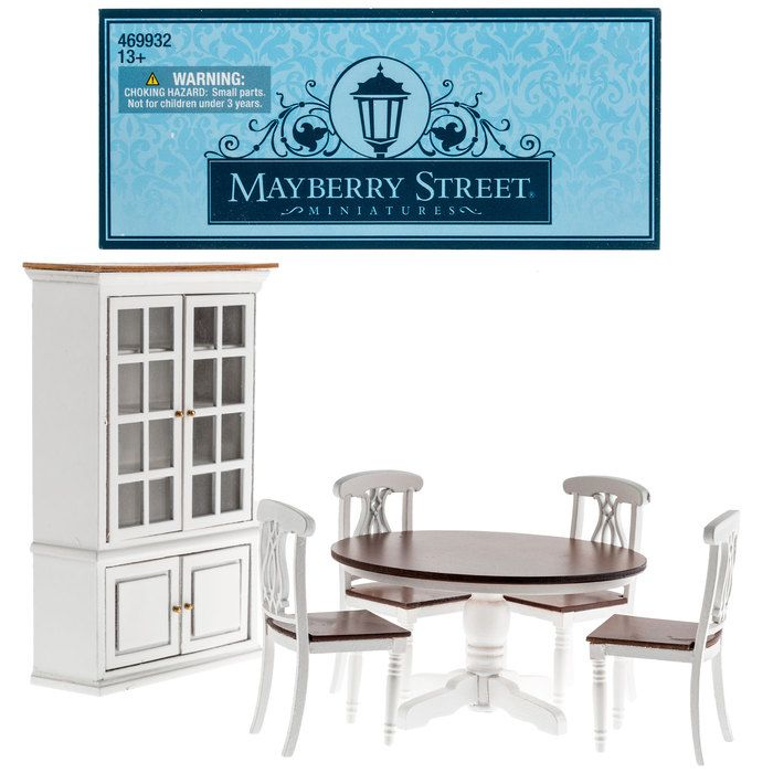 Good From Hobby Lobby · Get White Dining Room Table, Chairs U0026 Hutch Online Or  Find Other Mayberry Street Dollhouse