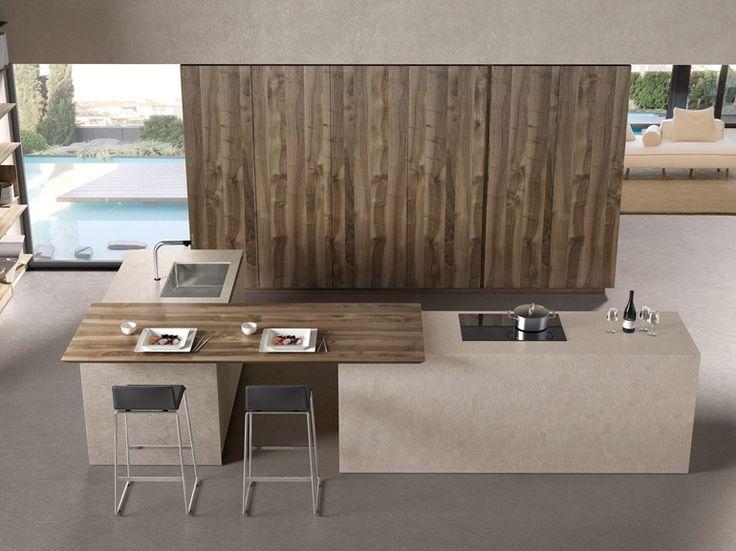 Cucina componibile con isola FILOANTIS by Euromobil | design Roberto Gobbo