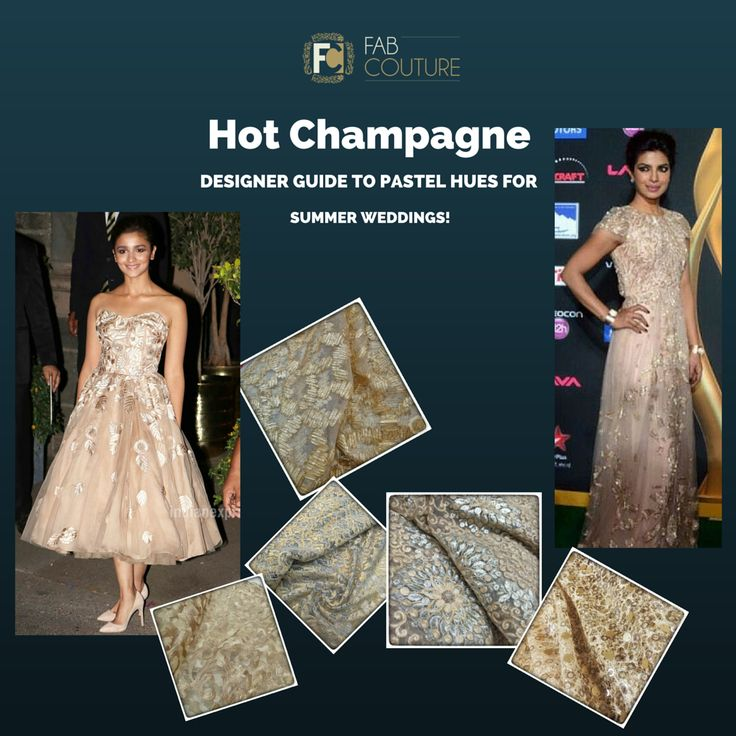 Go for pastel hues this summer wedding! ‪#‎designerguide‬ ‪#‎fabcouture‬ ‪#‎designerfabrics‬ ‪#‎pastelcolours‬ #champagne #golden #gold http://wp.me/p6qlgO-4J