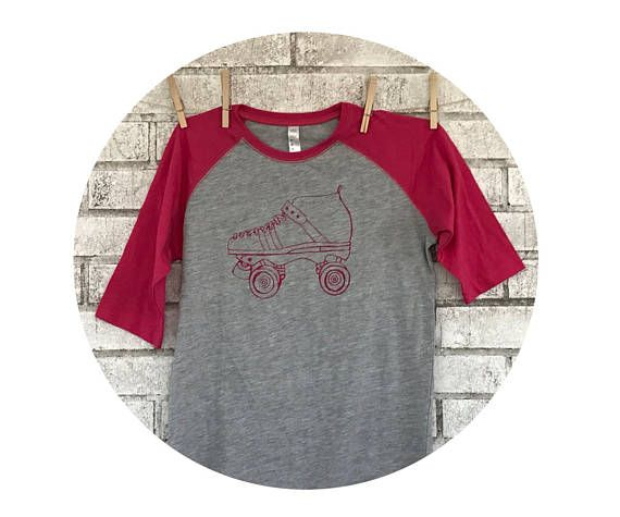New! Roller Skate Baseball Tee http://etsy.me/2ocMudn via @Etsy Available in youth and adult sizes! #rollerderby #Rollerskate #skate #etsy