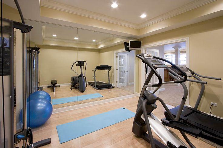 Basement workout/dance room.