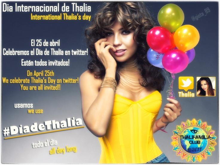 @ThaliFamilia #DiaDeThalia Poster @Lady T