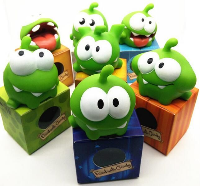 1Pcs Rope frog vinyl Rubber android games doll Cut the Rope OM NOM Candy Gulping Monster Toy Figure Phone Game rattle #>=#>=#>=#>=#> Click on the pin to check out discount price, color, size, shipping, etc. Save and like it!