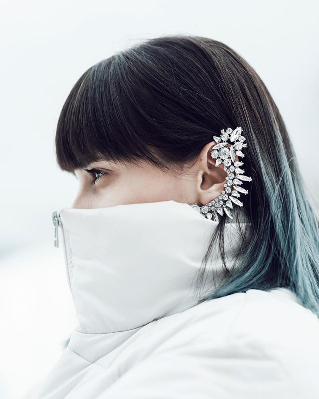 Rock Chic Statement Full Ear Cuff In Silver