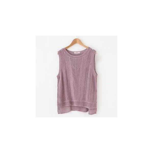 Knit Vest (€19) ❤ liked on Polyvore featuring outerwear, vests, sweatshirt, women, purple waistcoat, knit vest, purple vest and vest waistcoat
