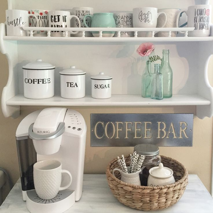 Home Coffee Bar Design Ideas: The 25+ Best Home Coffee Bars Ideas On Pinterest