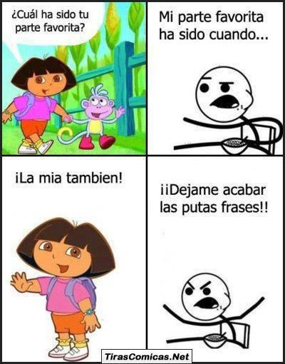 Cereal Guy y Dora la exploradora