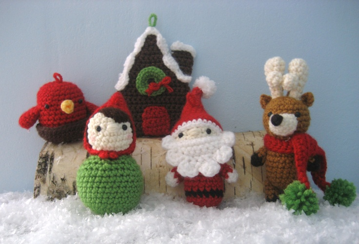 Amigurumi Crochet Christmas Ornaments : 17 Best images about Christmas Crafts on Pinterest ...