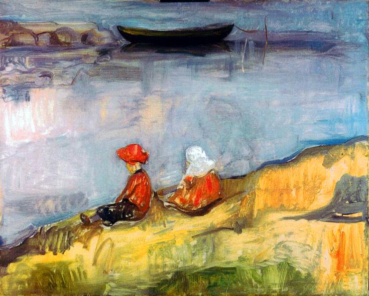 Edvard Munch - Two Children on the Beach, 1904