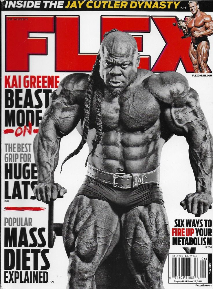 Flex magazine Kai Greene Popular mass diets Huge lats Jay Cutler dynasty Muscle