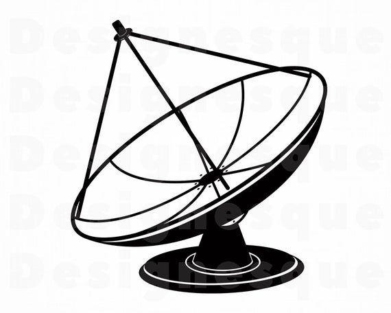 Satellite Dish Svg Satellite Dish Clipart Satellite Dish Etsy In 2021 Satellite Dish Svg Clip Art