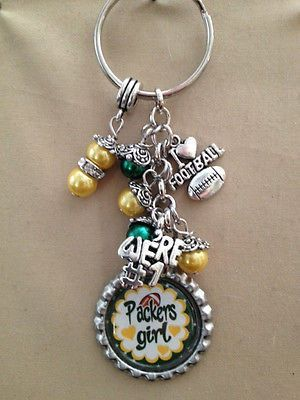 Green Bay Packers  Inspired Keychain Packers Handcrafted Key Chain #9