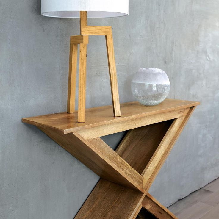 Atelier - Nordic accent - Cross-legged wood console table/CONSOLES & MEDIA CONSOLES/SHOP BY PRODUCT/ATELIER BOUCLAIR|Bouclair.com