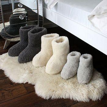 Merino Sheep Wool Booties