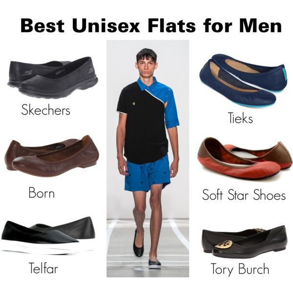 Best Unisex Flats for Men by brennk on Polyvore featuring Skechers, Børn,  · Tory BurchMens ...