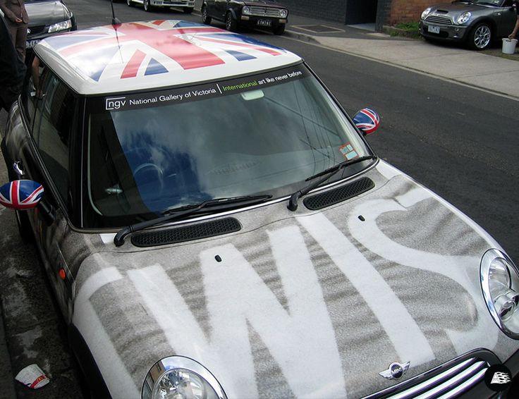 MINI, Art Car, Union Jack Roof Wrap, 1960s, Retro