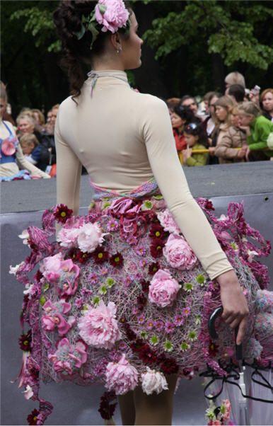 Een echte bloemen jurk.
