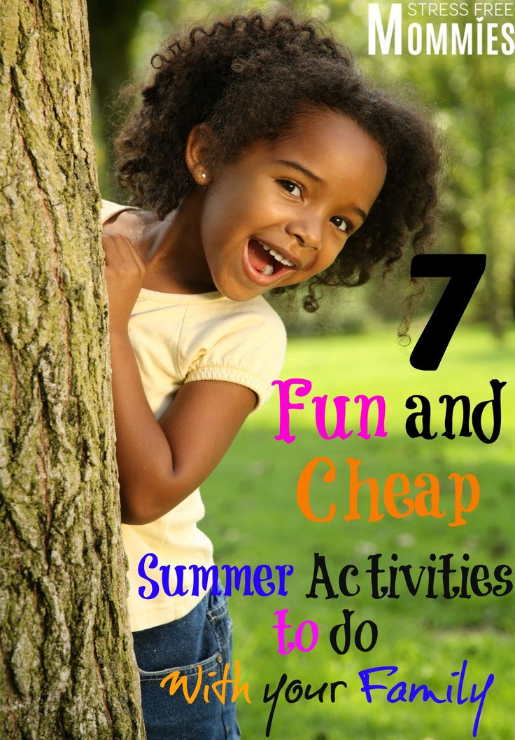 fun and cheap summer activities to do with your family- Do you want to have fun and bond with your family but don't want to spend a lot of money doing it? Guess what!? These 7 fun summer activities are perfect for you and your kids and you all will sure have a blast!
