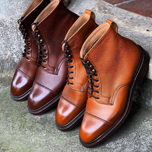 Cambridge straight cap boots in Mahogany and Rustic grain leather by Alfred Sargent @alfredsargent #alfredsargent #madeinengland #goodyearwelted #afinepairofshoes #afpos #mensboots #mensfashion #northamptonshire #cambridge