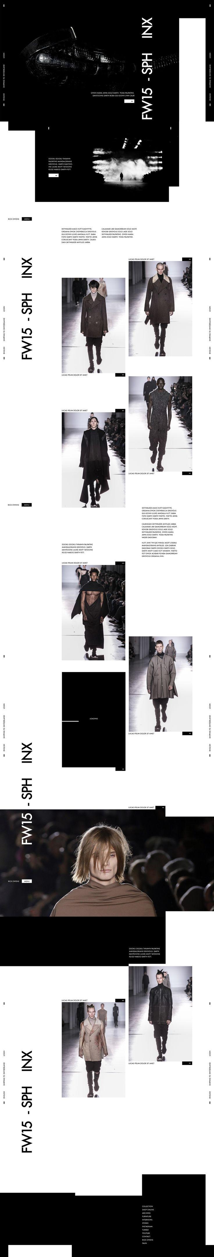 Web | Rick Owens Concept on Behance