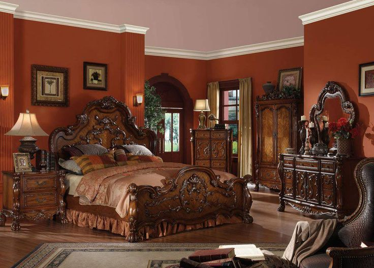 queen bedroom collection cherry finish dresden 5 piece set furniture deal to start coupon