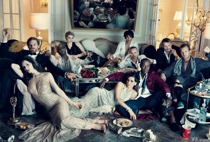 Clockwise, from left: Katharine McPhee, Michael C. Hall, J. B. Smoove, Sarah Jones, Regina King, Aaron Paul, Joel Kinnaman, Scott Caan, Don Cheadle, and Morena Baccarin, photographed by Norman Jean Roy.