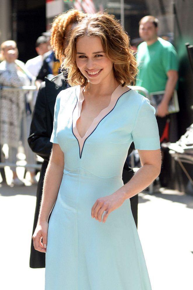 Emilia Clarke - Visiting Good Morning America in New York City