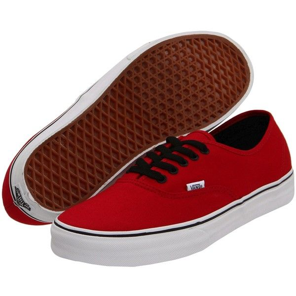 Vans Authentic Oxblood Red) Skate Shoes, Red ($18) ❤ liked on Polyvore featuring shoes, sneakers, vans, red, lightweight sneakers, waist trainer, leather shoes, lightweight running shoes and waffle trainer