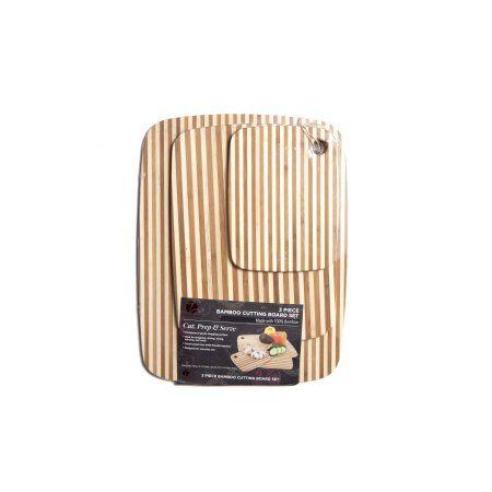 Zaza Kitchen 3 Piece Stripe Bamboo Boards