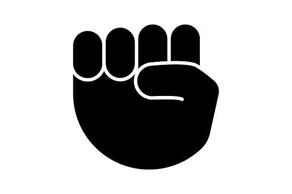 Raised Fist Emoji Glyph Icon In 2020 Glyph Icon Raised Fist Glyphs