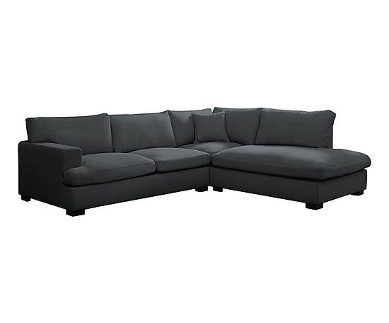 Canapé d'angle droit VITTORIA, gris - L285