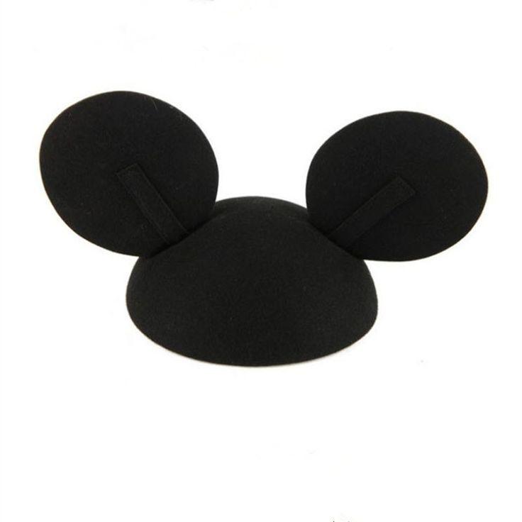 2016 Summer Fashion Big Ear Cap Girls Mickey Ears Cap Cute Cartoon Mickey Pure Wool Beret Snapback Hip Hop Hats Gorra Plana