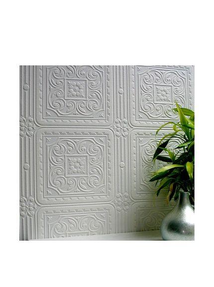 Brewster Paintable Turner Tile Textured Vinyl Peelable Wallpaper, White, http://www.myhabit.com/redirect/ref=qd_sw_dp_pi_li?url=http%3A%2F%2Fwww.myhabit.com%2Fdp%2FB0047Y04EM%3F