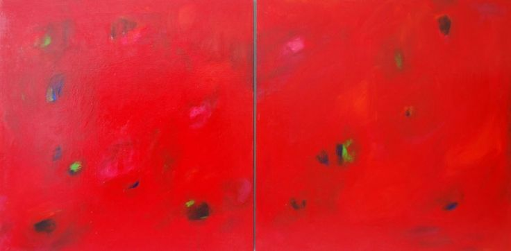Free Love Acrylic on wood panel 36×72 (Diptych)