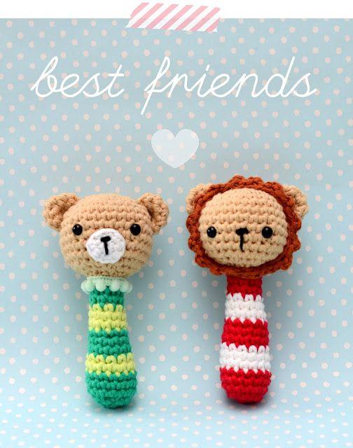 angorafrosch: amigurumi crochet baby rattle
