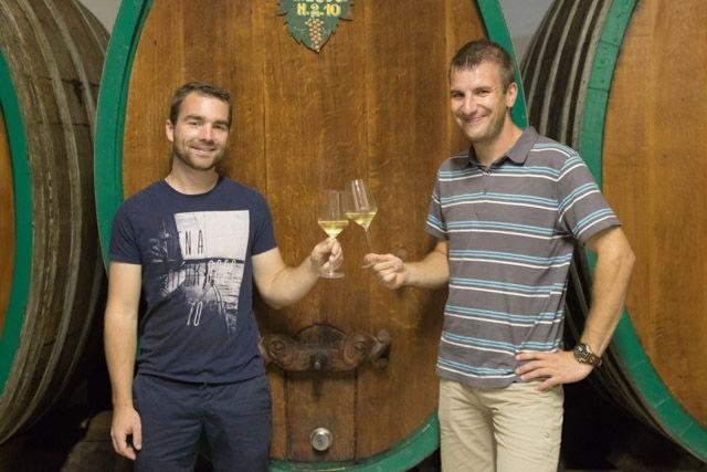 Travail en cave   Work in winery with Daniel and Raphael    Vins Bio d'Alsace - Domaine de l'Envol - Organic wine