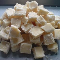Scottish Tablet.  Does not have the consistency of fudge, more like maple sugar candy.  Beyond delicious.  This is a recipe my Gran used in 1925.  I make this every Christmas.  Extremely sweet!!