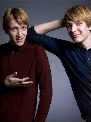 James and Oliver Phelps also known as the Weasley twins. fav characters from harry potter.