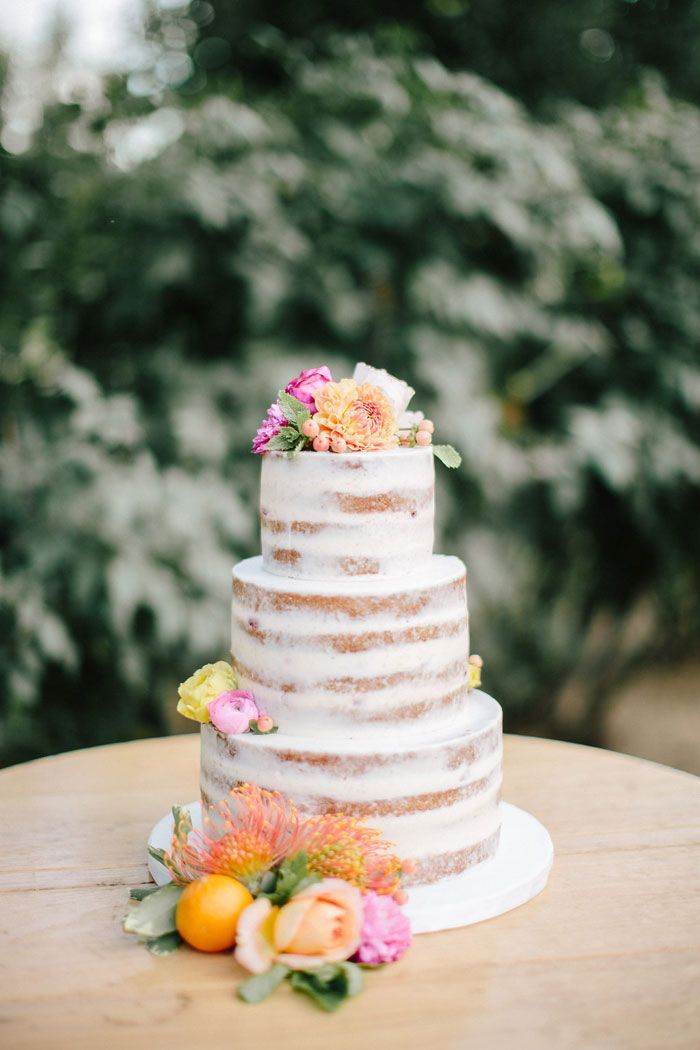 how to make a tierd naked cake