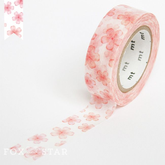 MT ex sakura washi tape at Fox and Star #floral #washitape