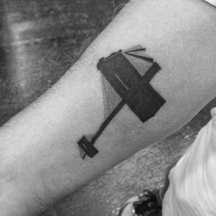 Brooklyn bridge tattoo on the right forearm tattoo artist