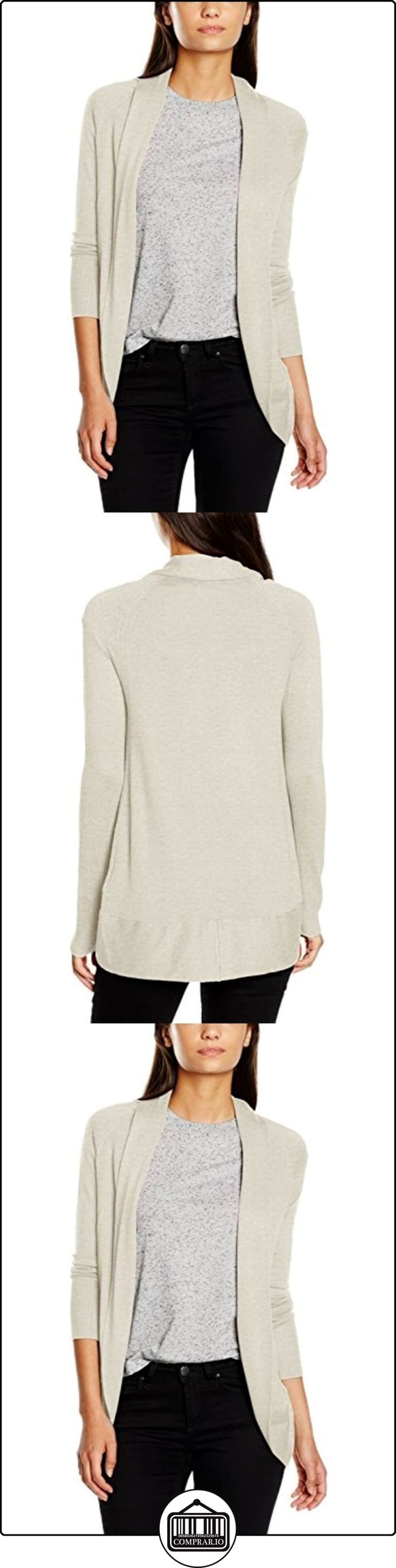 ONLY onlMILA L/S OPEN CARDIGAN KNT, chaqueta punto Mujer, Gris (Whitecap Gray), 40 (Talla del fabricante: Large)  ✿ Ropa de punto ✿