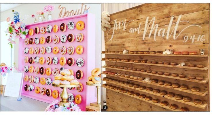 Cooler Hochzeits-Trend: Die Donut-Wall