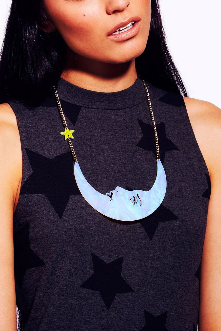 La Luna Moon Large Necklace - Opal #tattydevine #christmaswishlist